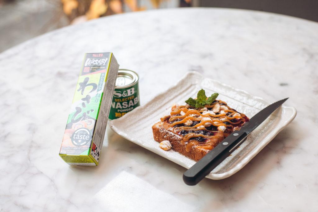 Frühstücksrezept French Tost S&B Wasabi Haselnüsse